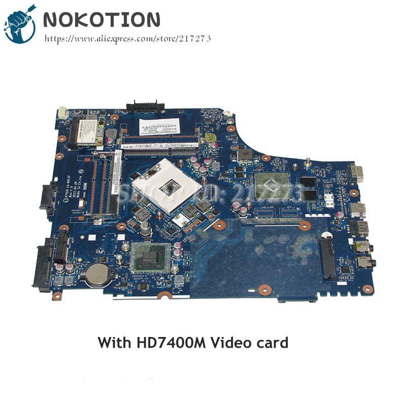 где купить NOKOTION P7YE0 LA-6911P For Acer aspire 7750 7750G Laptop Motherboard HM65 DDR3 HD7400M MBBVV02001 MB.BVV02.001 MAIN BOARD по лучшей цене