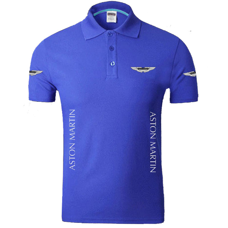 Aston Martin logo   Polo   Shirts Men Desiger   Polos   Cotton Short Sleeve shirt Clothes jerseys   Polos