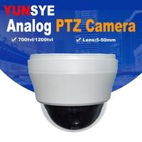 YUNSYE 10X зум 4 дюйма мини ptz камера для внутреннего видеонаблюдения 700TVL скорость купольная видеокамера PTZ скорость купольная камера аналоговая