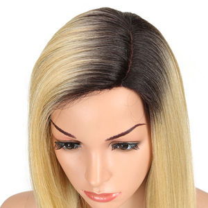 Image 3 - Magic Hair Synthetic Hair Lace Front Wig 24 Inch Long Straight Wig Ombre Black Pink Cosplay Wig Heat Resistant Synthetic Hair
