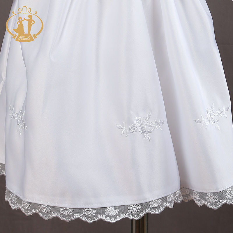 Купить с кэшбэком Nimble white baby girl clothes Cotton baby dress full Sleeve clothes for girls baptism clothes first communion clothes for girls