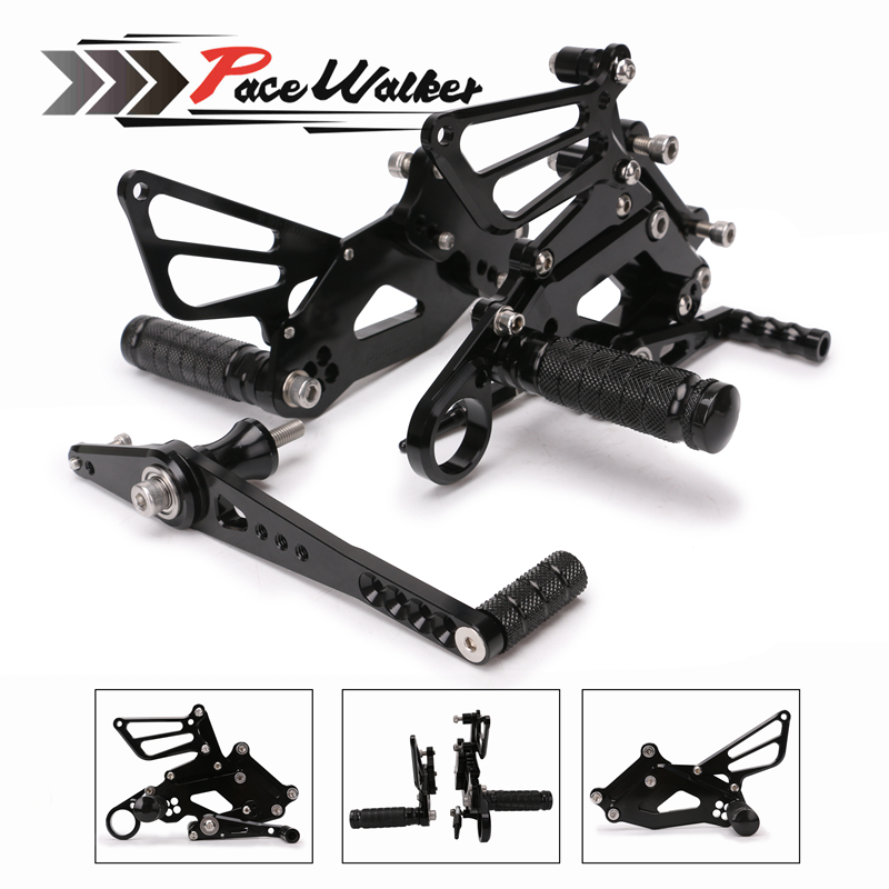 Free shipping Motorcycle Adjustable Rear Rider Sets Shift Rearset Footrest Pegs for BMW S1000RR S 1000 RR 2015 2016 2017 cnc racing rearset adjustable rear sets foot pegs fit for bmw s1000rr s1000 rr hp4 2015 2016 silver