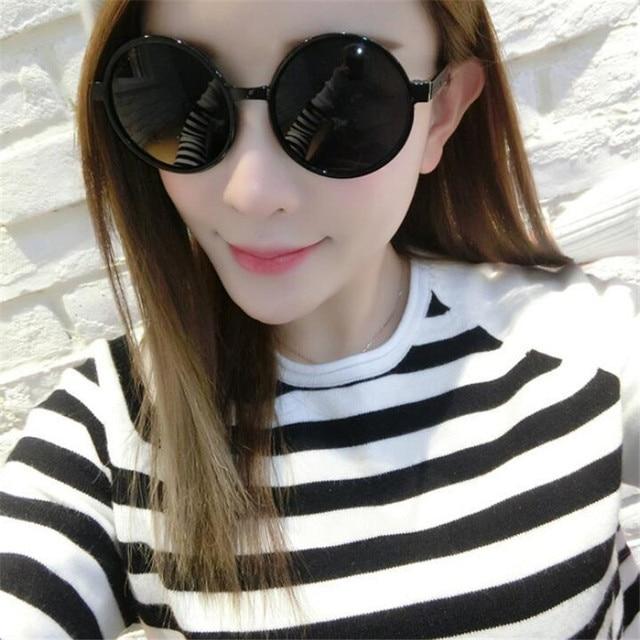 8f45c4adf4f7 Women Fashion Sunglasses Circular Large Eyeglasses Frame New Retro Sun  Glasses Bright Color Film AC Lens UV400 029
