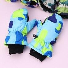 Детские зимние водонепроницаемые теплые варежки для мальчиков и девочек, детские лыжные перчатки для улицы