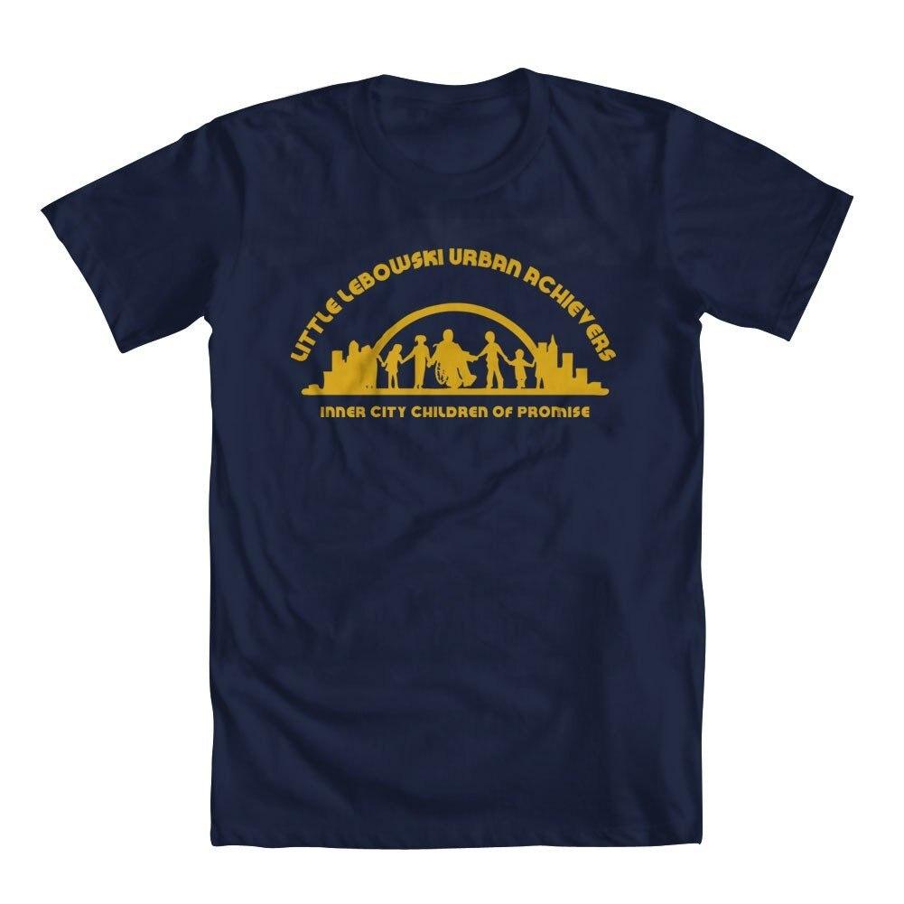 Мужская футболка с круглым вырезом GEEK TEEZ Little Lebowski Urban Achievers модная повседневная