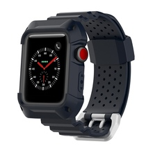 Silicone Strap Watch Case For Apple band 42mm 38mm Sport Wrist Belt Bracelet Watchbands for iwatch 3/2/1
