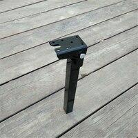 2PCS Lot H 400mm Folding Foldable Table Desk BenchTop Bar Leg Feet Black Paint RV HM113