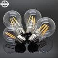LightInBox 220V 4W 8W 12W 360 Degree Retro no Dimming Candle Lighting Edison E27 LED Filament Light Glass Housing Bulb Lamps