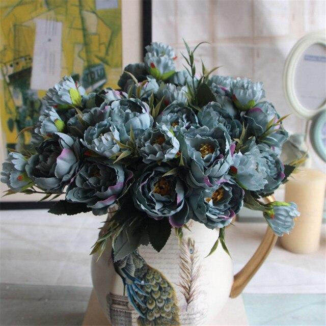 Fleur de Soie Européenne Artificielle Vintage 3