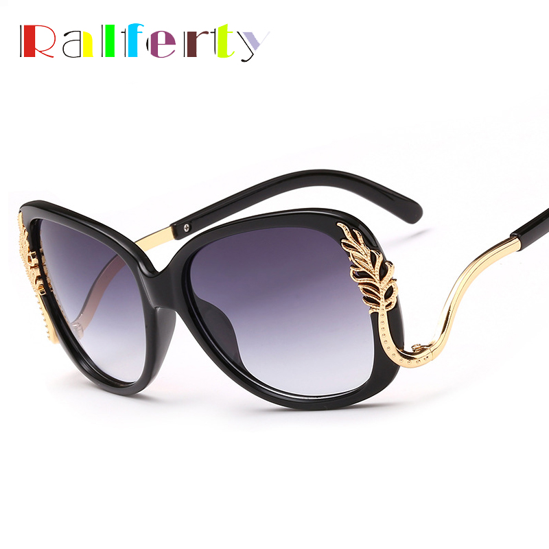 f0fff8493b0d Ralferty Vintage Ladies Oversize Sunglasses Women Brand Designer Big Frame  Sun Glasses UV400 Outdoor Goggles Shades Oculos A50