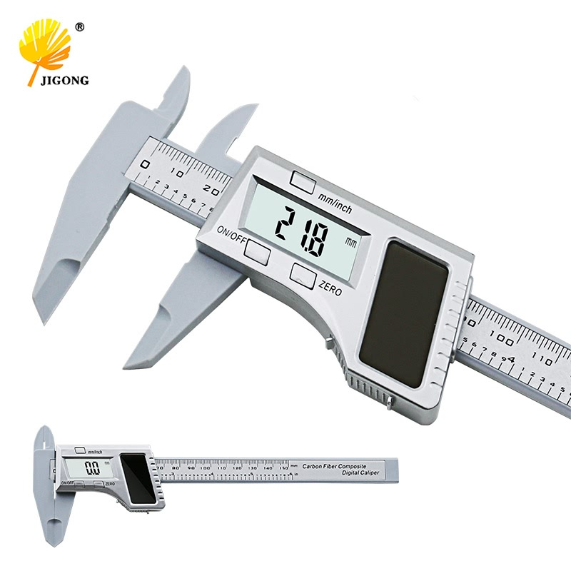 "6"" 0-150mm Digital Solar Battery Dual Power Caliper LCD Vernier Gauge Micrometer Measuring Tools"