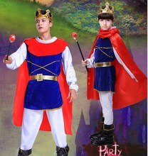 Men&Boy King Prince Costume Fantasia Boys King Cosplay Halloween Costume Birthday Gift For Kids Child Fancy Dress Plus Size 5XL kids birthday halloween party gift new child boy deluxe star wars the force awakens storm troopers cosplay fancy dress kids hall