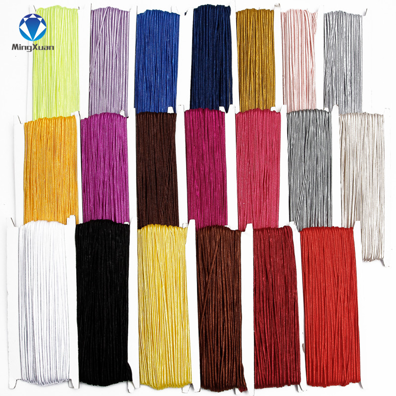 MINGXUAN 30 Meters 3mm Chinese Soutach Cord Multi Colors Nylon Rope Snake Belly Cords For DIY Jewelry Making Findings