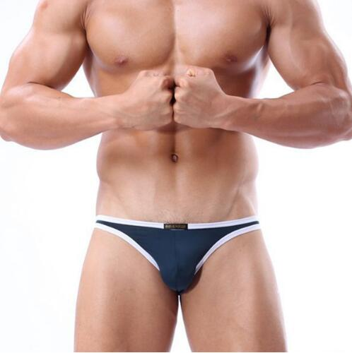 High quality 2018 brand briefs solid underwear Men Fashion Sexy Briefs Nylon Low Waist Male Underwear Men Sexy underpants