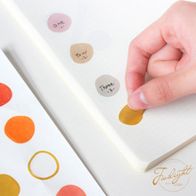 1pack Morandi Irregular Circle Series Washi Paper Stickers Scrapbooking Decoration Material Color Sticker