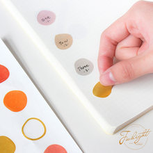 1pack Morandi Irregular Circle Series Washi Paper Stickers Scrapbooking Decoration Material Color Sticker