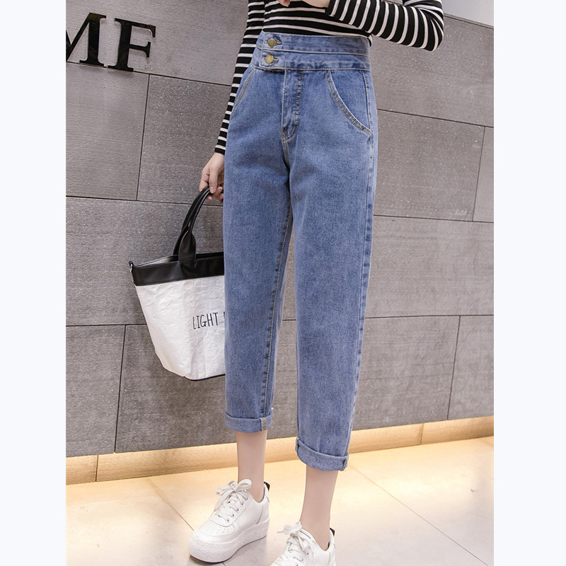 JUJULAND 2020 Autumn Clothes Ladies High Waist Female Boyfriend Jeans For Women Trousers Pants Denim Ripped Jean Woman Plus Size
