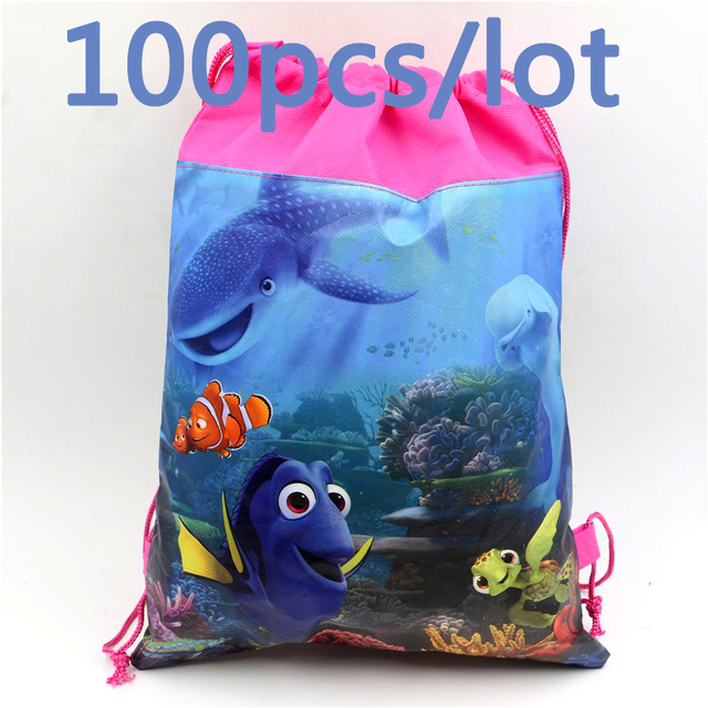 020c378e890 Birthday Party Finding Nemo Kids Favors Backpack Drawstring Gits Bags  Non-Woven Fabric Baby Shower