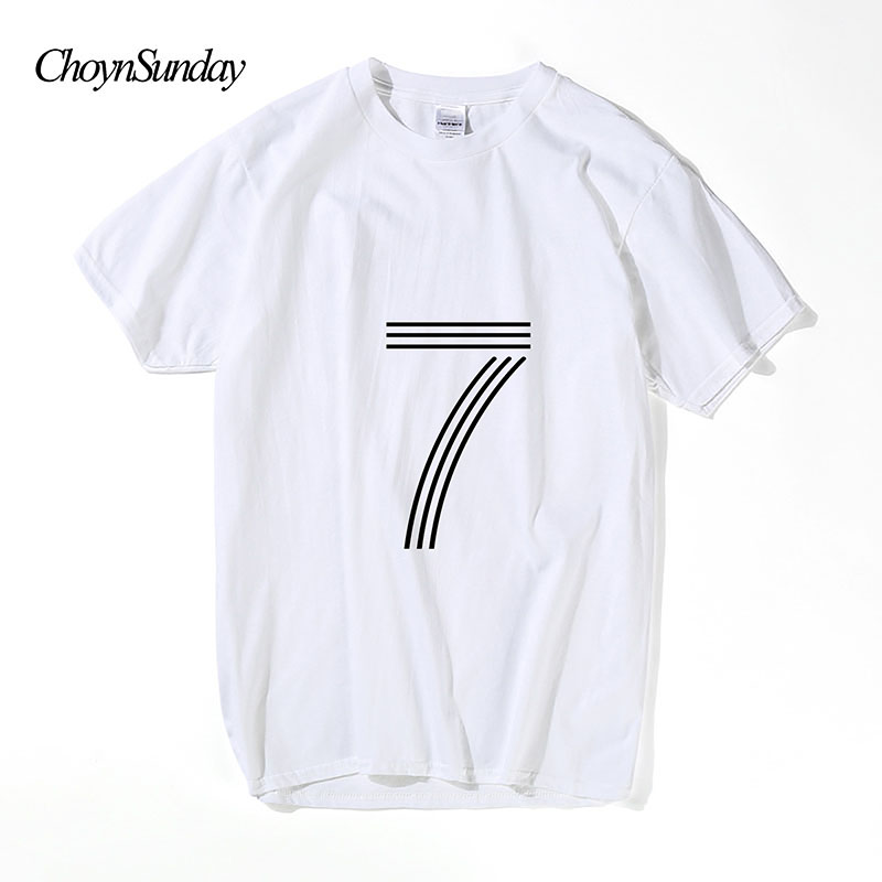 2018 Choyn Sunday New Arrival Fashion Top Man Seven Print T-shirt - Herenkleding