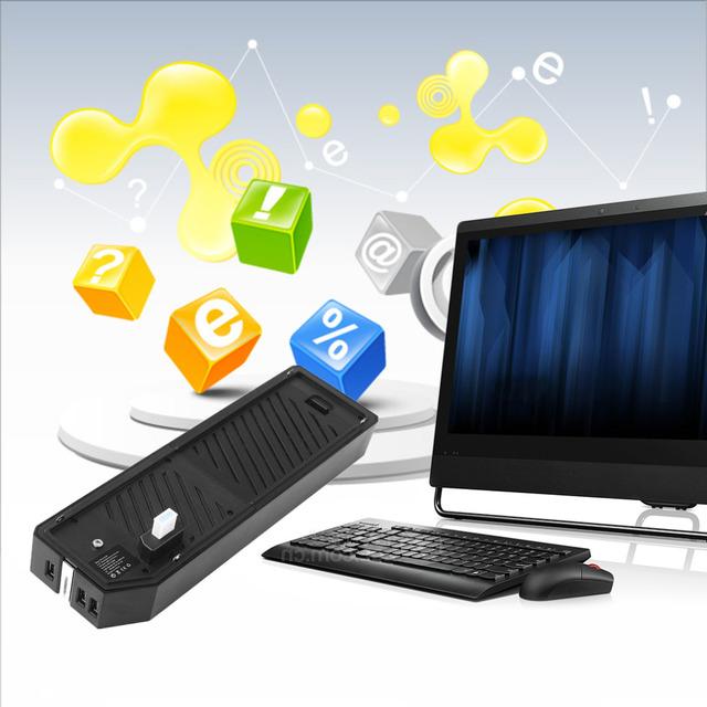 Coletivo hub para xbox one externo gabinete de disco rígido e 3 portas hub de mídia usb 3.0 para xbox one black
