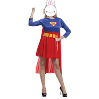 Hot 2016 Supergirl Mulheres Costume Mulheres sexy halloween costumes drop shipping Sexy Super Herói Adulto Mulheres Traje instyles