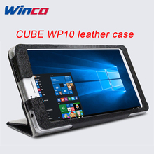 Leather Case Stand Flip Cover for CUBE WP10, pouch/sleeve protective bag For CUBE WP10 6.98'' Tablet Leather Case Holder(China)