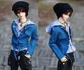Красивый Джинсы Куртка + Серый Рубашка 1/3, 1/4 SD17 Дядя BJD Куклы SD MSD Одежда Индивидуальные CMB1