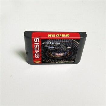 Devil Crash MD 16 Bit MD Game Card For Sega Megadrive Genesis Video Game Console Cartridge