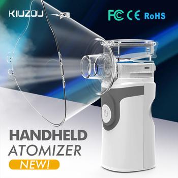 Przenośny inhalator ultradźwiękowy Mini ręczny inhalator Respirator nawilżacz zestaw opieki zdrowotnej dzieci domu inhalator maszyna Atomizer tanie i dobre opinie KIUZOU JZ-492S gray