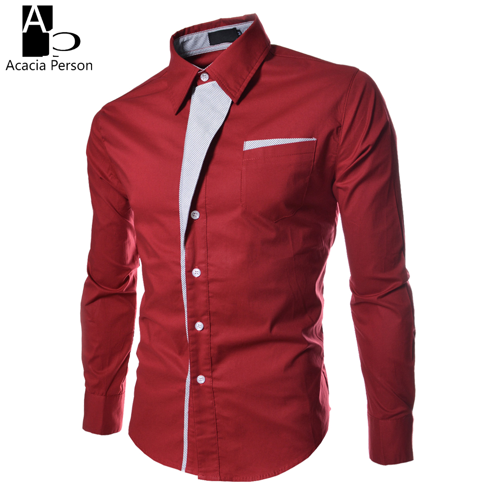 New Mens Shirt Dress Shirt Long Sleeve Slim Fit Formal