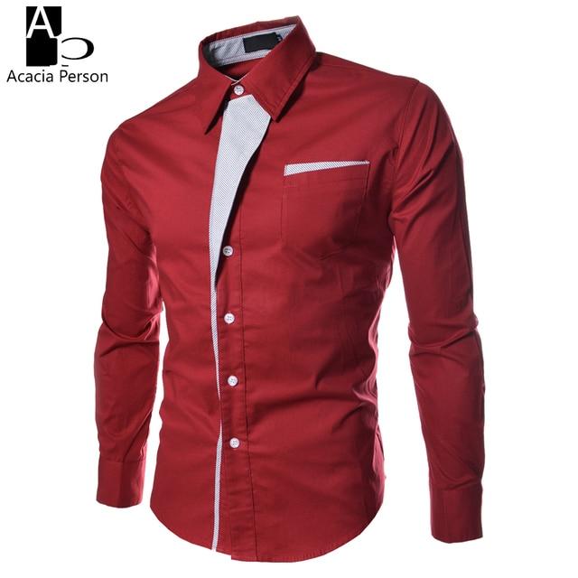 37cc9f8ef Nueva camisa para hombre camisa de vestir de manga larga slim fit formal  coreano camisa rayas