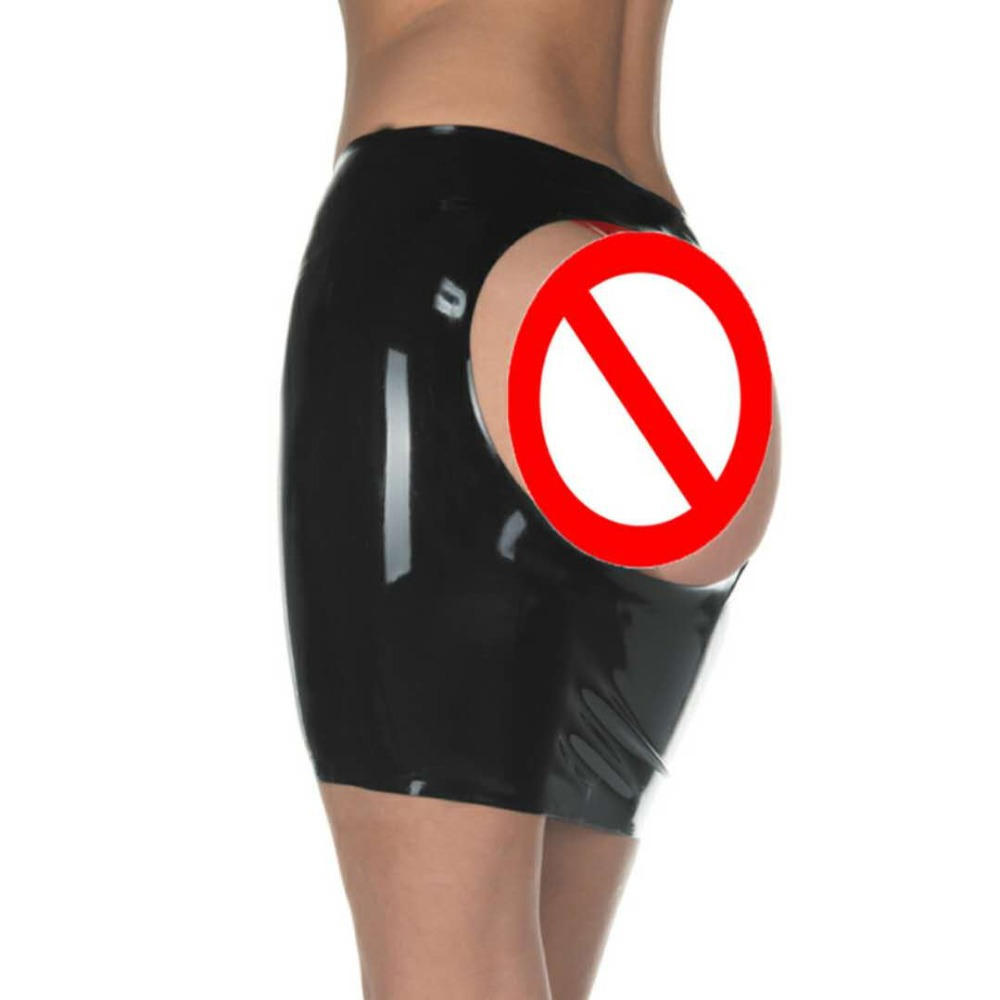Buy Hot New latex  sexy  mini party skirt red black  seamless without zipper open one round hip