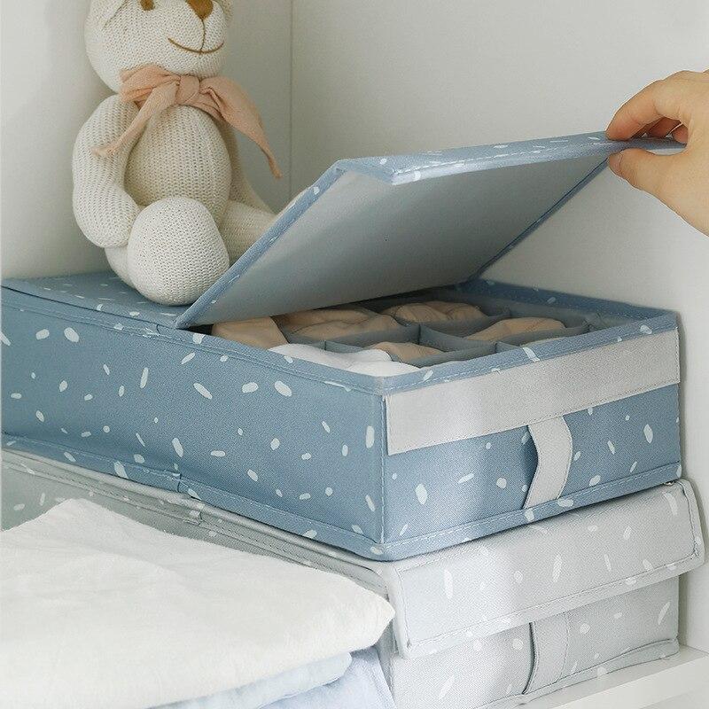 US $10.44 39% OFF|Canvas Underwear Divider Storage Box For Bedroom Cupboard  Clothes Organizer Boxes Household Socks Drawer Storage Holder Case-in ...