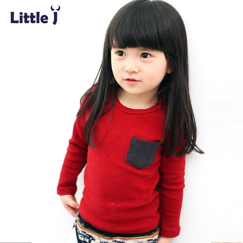 Casual Solid Kids Boys T-Shirt Spring Autumn Long Sleeve Baby Girls T-Shirts Cotton Chil ...