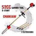 2020 Новинка 52cc длинная бензопила телескопическая бензиновая Цепная Пила Кусторез для дерева секатор с 3 расширенными полюсами садовые инстр...