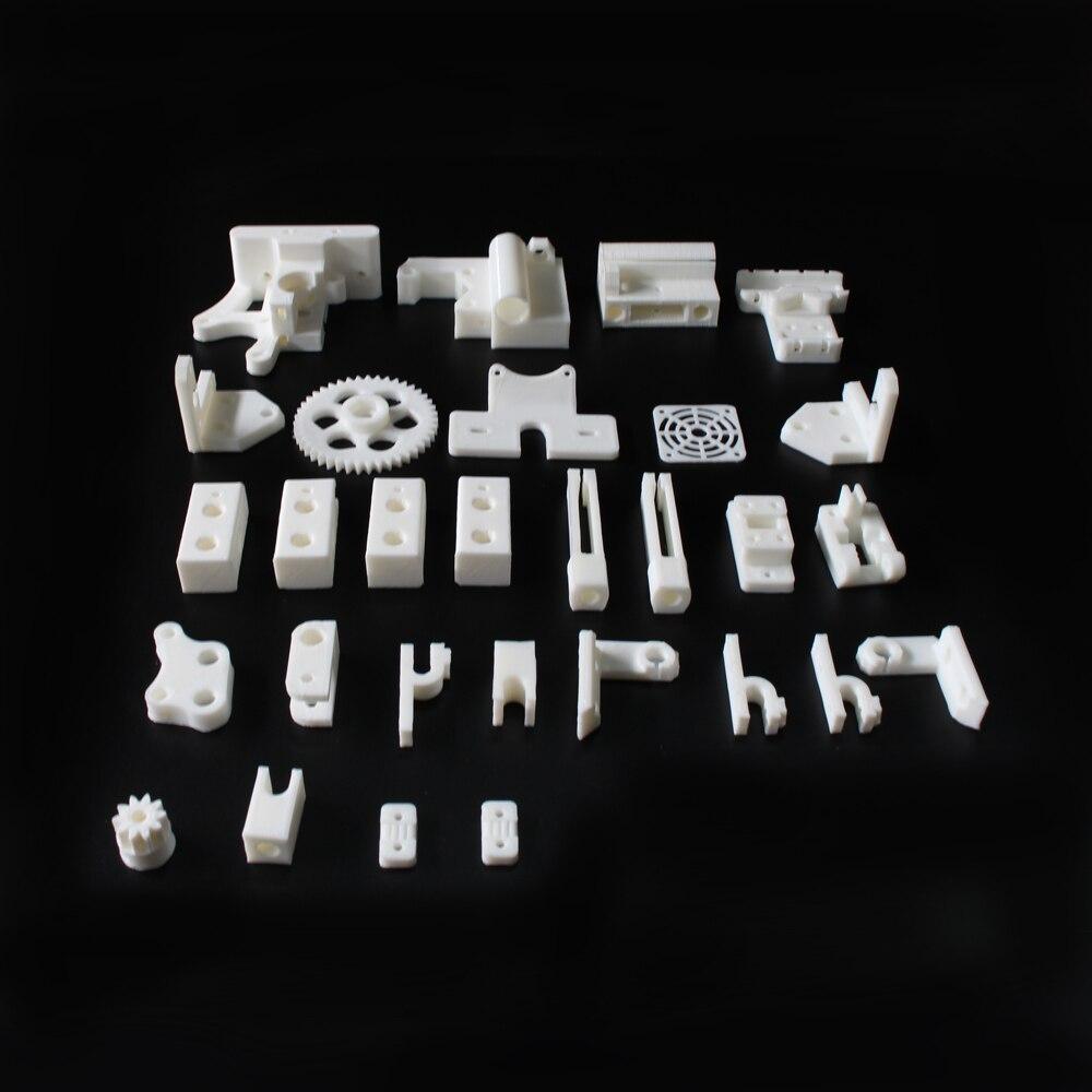 Prusa Mendel i3 PLA plastic Parts Kit DIY Acrylic frame 3D Printer printed parts - White Dream-Partner store