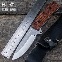HX açik sabit bıçak düz bıçak gülağacı bıçak 3cr13mov blade bıçak kamp el aletleri survival avcılık knive