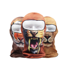 Unisex Winter Warm Windproof Face Mask Hat Neck Helmet Beanies For Men Women Balaclava Hat Wild Animal Pattern Skullies Bonnet