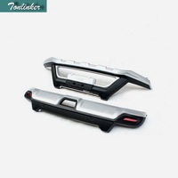Tonlinker 2 PCS DIY car styling Engineering Plastics Plating front/rear bumpers cover case Stickers for Nissan X Trail 2014
