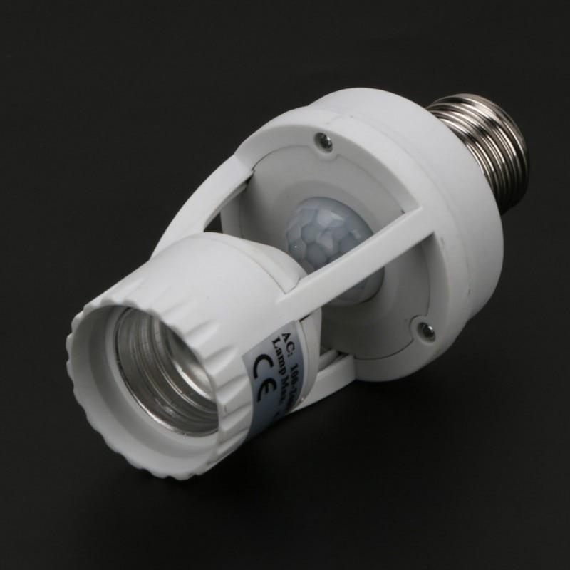 Senzor de mișcare PIR cu inducție de 360 de grade IR infraroșu uman E27 Mufă priză LED senzor lumină întrerupător de bază