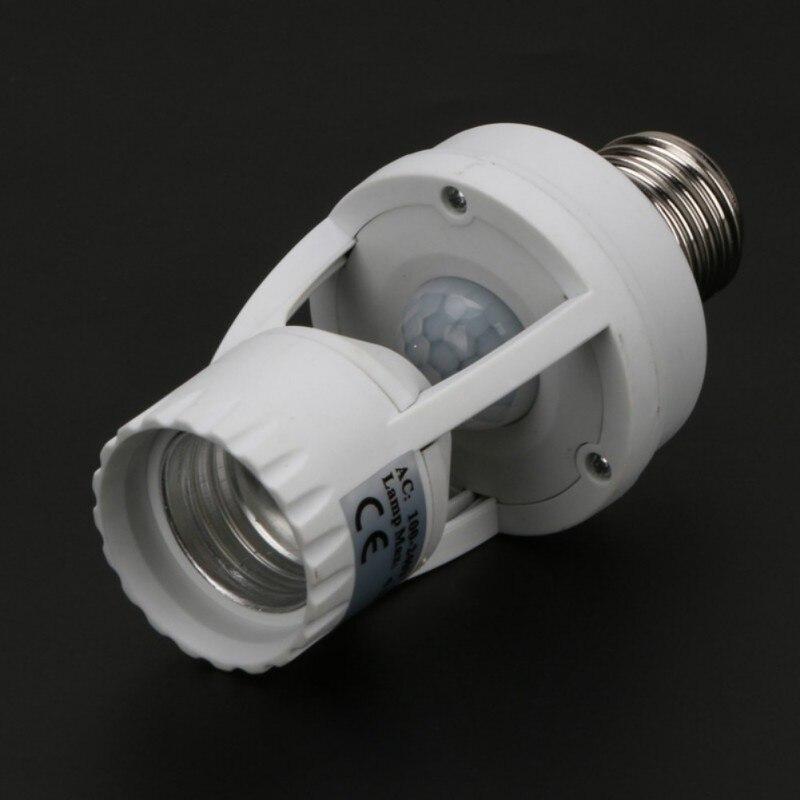 360 grad pir induktions bewegungssensor ir infrarot menschlichen e27 steckdose led licht sensor switch base lampenfassung
