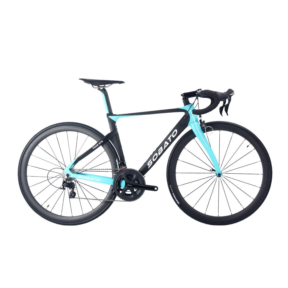 Sabato S completo de Bicicleta de Carretera bicicleta BRILLO Mate Azul NEGRO 68