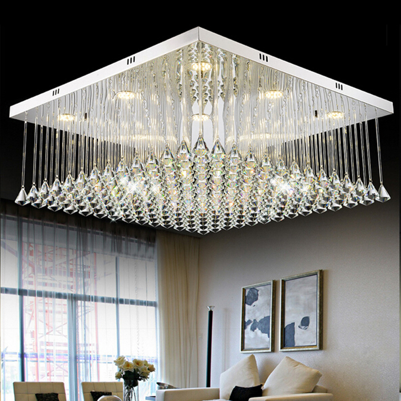 New Design Ceiling Lights : New square design crystal ceiling lights for home decor