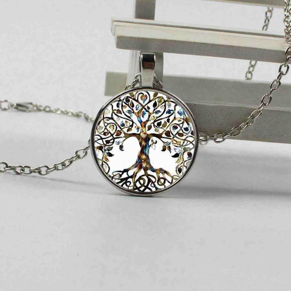 2018 fashion glass photo pendant life tree crystal ladies jewelry gift