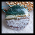 Natural Stone Ocean jasper pendant,35*9mm,18.6g, semiprecious stone beautiful fashion pendant