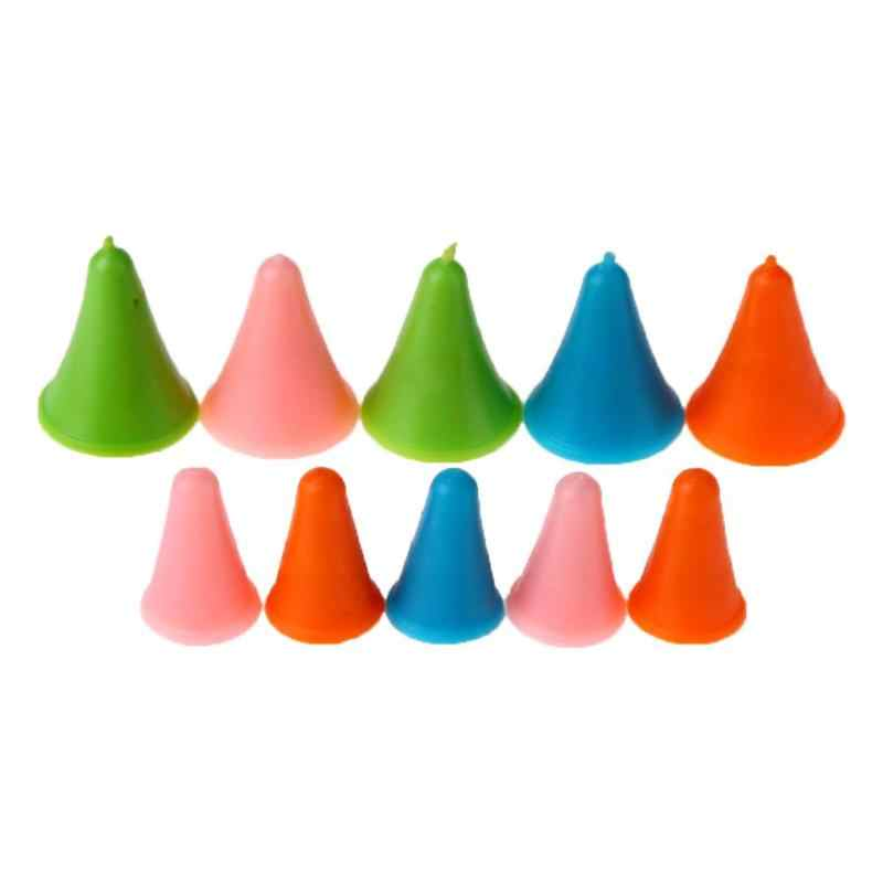 10pcs Rubber Cone Shape Knitting Needles Cap  Rubber Cone Shape Non Slip Needle Protectors   Sewing Accessories Knitting Tools