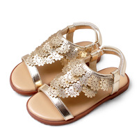 Girls Kids Sandals Princess Bling Sequins Fashion Summer Shoes Fille Golden Silvery Pink Children Rome Shoes Rubber Non slip
