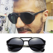 Plastic Steampunk Sunglasses Women Men Retro Goggles Round Flip Up Glasses steam punk Vintage Fashion Eyewear Oculos de sol
