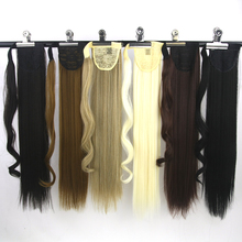 Soowee Long Straight High Temperature Fiber Black Blonde Ponytail Little Pony Tail Synthetic Hair Extensions Hairpiece