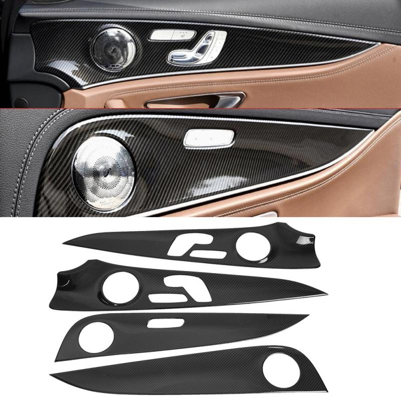 Hot Sale 1set Car Interior Door Panel Cover Trim For Mercedes Benz E